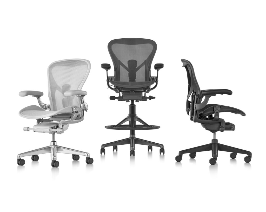 Familia de sillas ergonómicas de trabajo Aeron