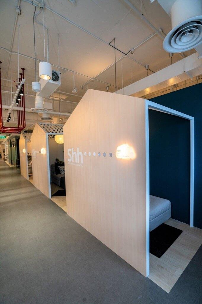 ¿Qué hacemos con las oficinas? cabinas para tener privacidad